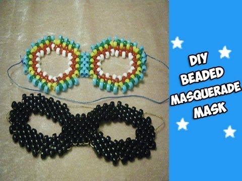 How to Make a Beaded Masquerade Mask - [Kandi Tutorial]