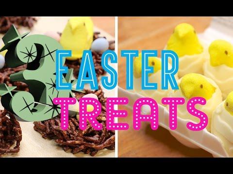 3 EASTER TREATS - Smashed Creme Eggs, Peeps Eggs & Chicks Nests