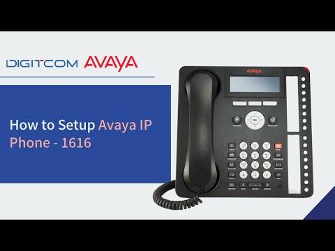 How to Setup Avaya IP Phone - 1616