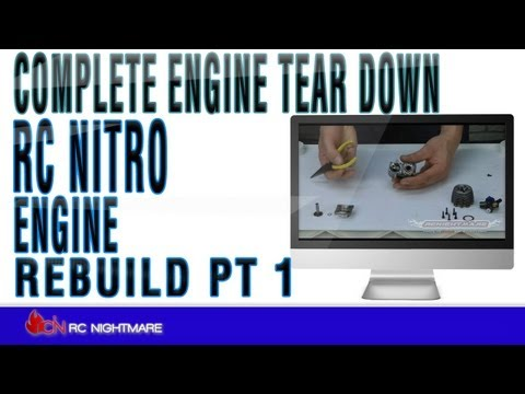 RC Nitro Engine Rebuild Pt 1 Complete Engine Tear Down