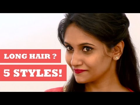 5 Easy Hairstyles for Long Hair - Get Stylish with Poornima Indrajith - KappaTV