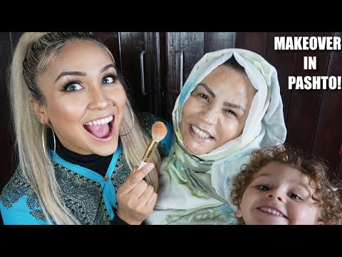 DOING MY MAMA'S MAKEUP (IN PASHTO) | *ENGLISH SUBS*