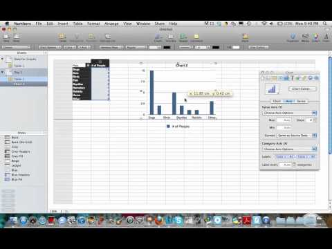 Making Simple Bar Graphs in Mac Numbers