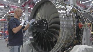 Rolls Royce Trent production of turbojet engines
