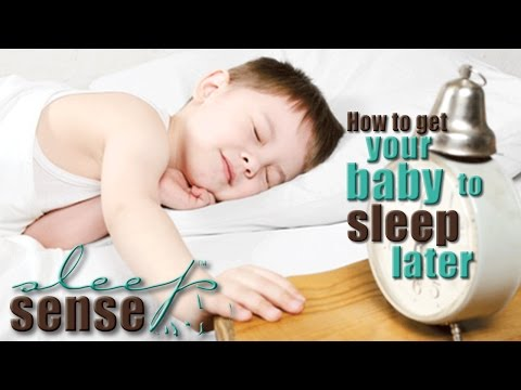 How To Get Your Baby To Sleep Later - Baby Q&A with Dana