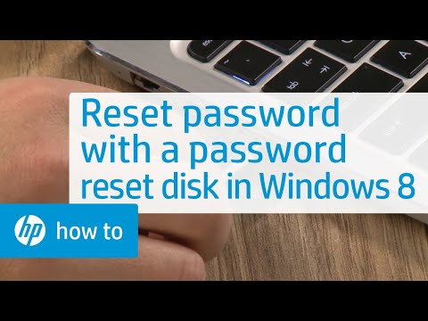 Resetting a Local User Account Password with a Password Reset Disk in Windows 8