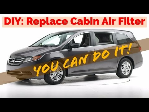2014 Honda Odyssey Air or Pollen Cabin Filter Replacement DIY 5-MINUTE TASK