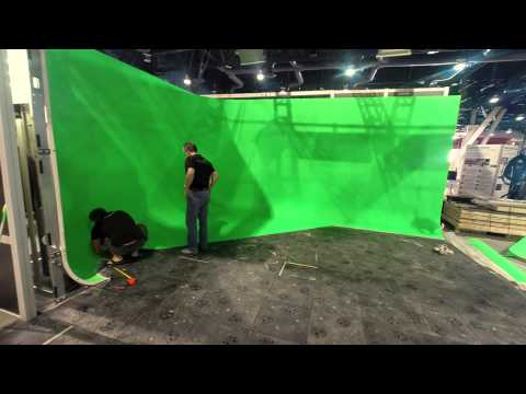 Pro Cyc ROSS Video NAB 2015 Time Lapse Build a Green Screen Cyc Wall