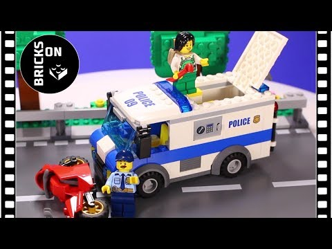 LEGO CITY POLICE 60142 Money Transporter Speed Build Instructions Lego Stop Motion Animation