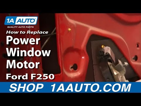 How to Install Replace Power Window Motor Ford 99-07 F250 F350 Super Duty 1AAuto.com