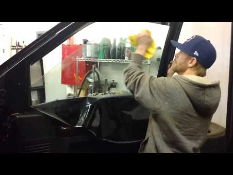 Window tint removal   How to remove window tint