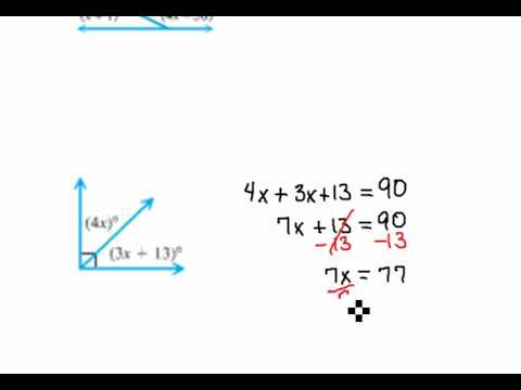 Solving Complimentary Angles 2.5