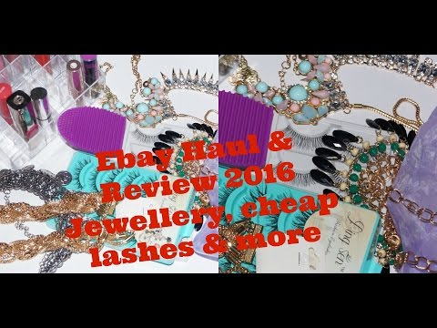 Ebay Haul & Review 2016 | Jewellery, Cheap lashes & more