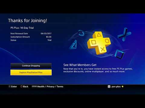 How to Put account PSN PLUS on Playstation 4 and Enable PLUS