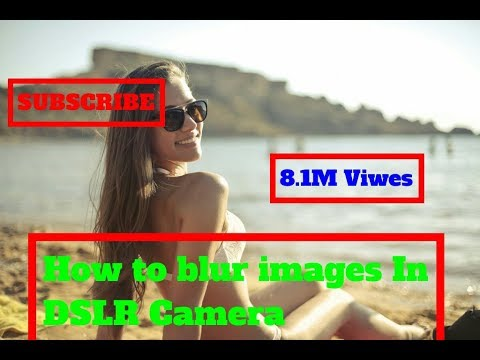how to blur background in DSLR Camera | [Krishna Rds]