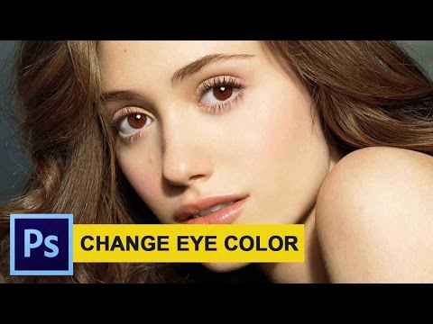 How To Change Eye Color in Photoshop - Photoshop Tutorials 2017