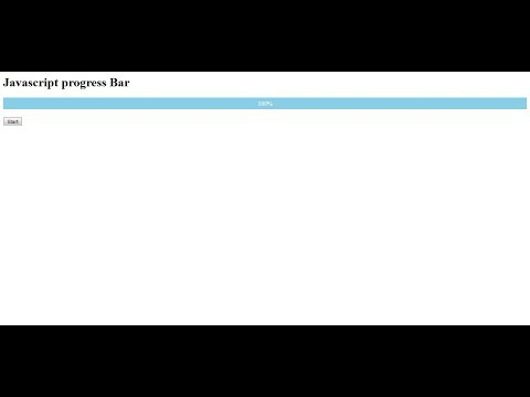 How to create progress bar using HTML, CSS and Javascript