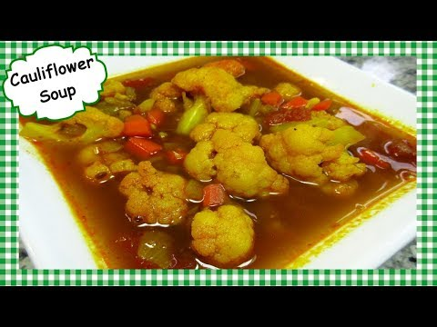 Easy Indian Inspired Cauliflower Soup ~ Healthy Cauliflower Soup Recipe ~ Power Souping