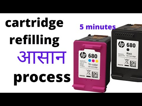 How to fill HP 680 cartridge