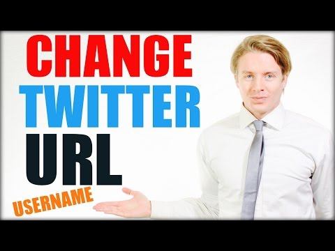 How to change Twitter URL @ username - 2016 Tutorial