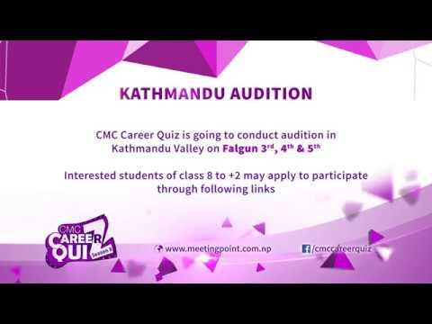 Career Quiz season 8 Kathmandu Audition Calling