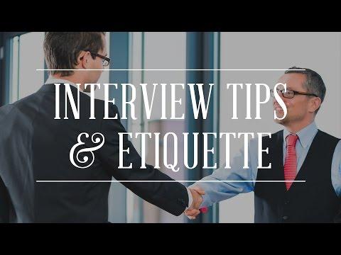 Job Interview Tips & Etiquette