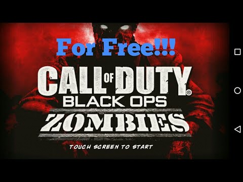 How To Get Call Of Duty Black Ops Zombies For Free On Android!