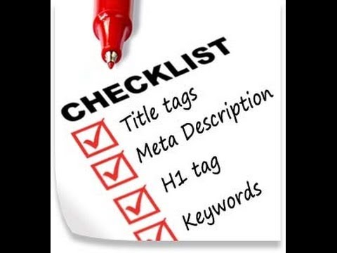 SEO Checklist 2014 - For New Websites