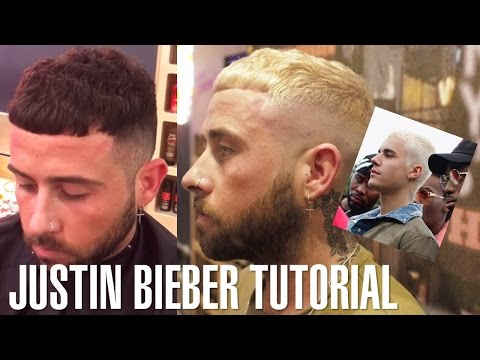 Platinum Blonde Justin Bieber Inspired Hairstyle & Haircut Tutorial | Johnny's Chop Shop