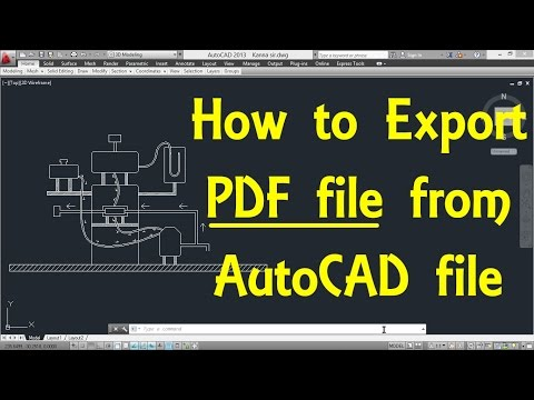 How to Export PDF file from AutoCAD file by Engineer AutoCAD Tutorials