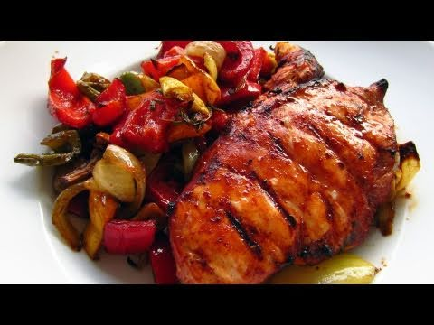 Healthy BBQ Chicken with Roasted Veggies Recipe