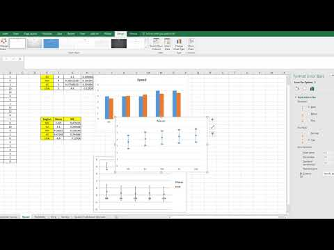 Adding Confidence Intervals to Scatter Plot of Means in Excel 2016