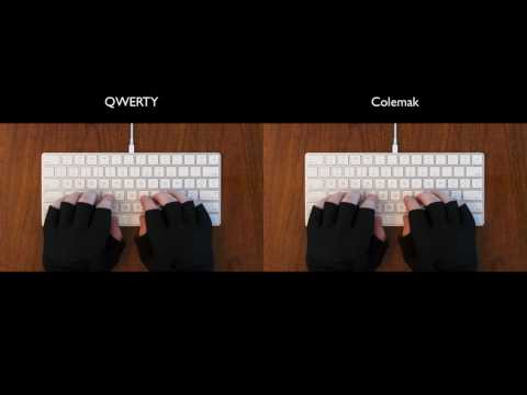 QWERTY vs Dvorak vs Colemak