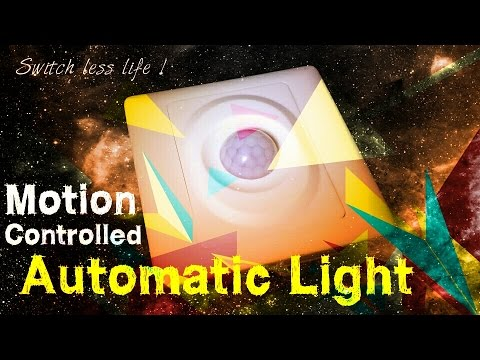 Automate Your Home Lights With Pir Motion Sensor - Easy To Install !