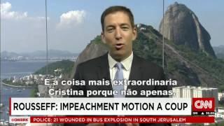 Na CNN jornalista desmascara o impeachment contra Dilma Rousseff no Brasil   O Prato Feito