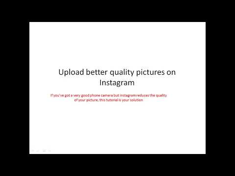 Upload high resolution / quality pictures on Instagram