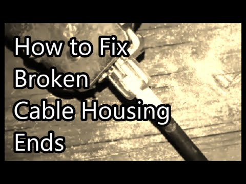 Fix broken cable with bicycle brake adjuster - ford car truck van door won't open - stuck latch