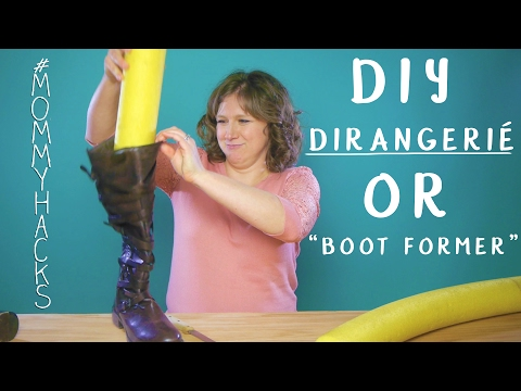 How to make your own Boot shaper, boot-Former Life-Hack thingie #MommyHacks Ep19