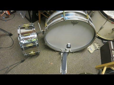 Homemade bass drumb , kick drum movie and matching snare