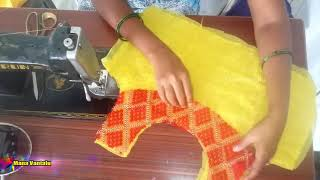 Latest boat neck design cutting and stitching by sri tv
