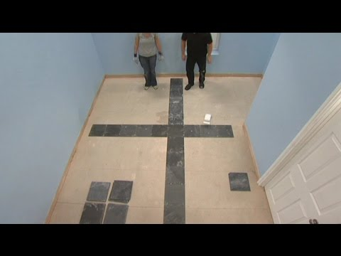 Laying a New Tile Floor: Where to place first tile on floor