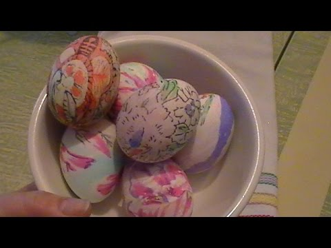 Dying Easter Eggs With Silk Scarves