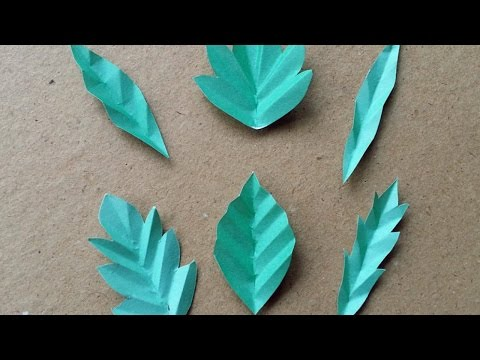 How to make paper leaves for fall paper leafs how to make 6 fun paper leaves diy diy tutorial guidecentral mightylinksfo