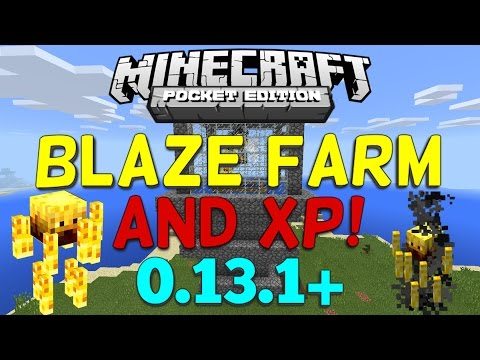 How to Make a Blaze Farm/XP Farm in Minecraft PE! (0.13.1+)