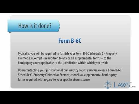 Learn How to Fill the Form B-6C Schedule C - Property Claimed as Exempt