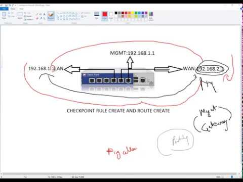 Create Rule and Route in Checkpoint Firewall - Part 4.2