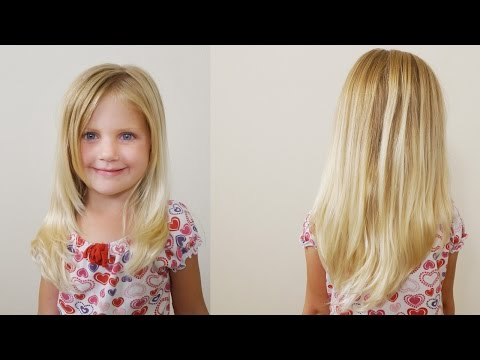 How To Cut Girls Hair // Long Layered Haircut for Little Girls
