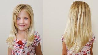 How To Cut Girls Hair // Long Layered Haircut for Little Girls