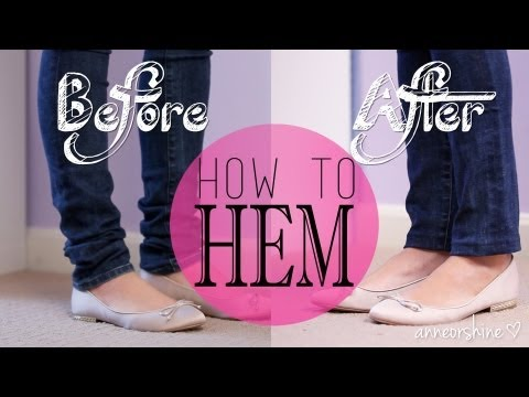 How to Hem Jeans, Shorts, or Skirts like a Pro {Sew & NO Sew}