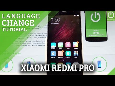 How to Change Language in XIAOMI Redmi Pro - Language Settings